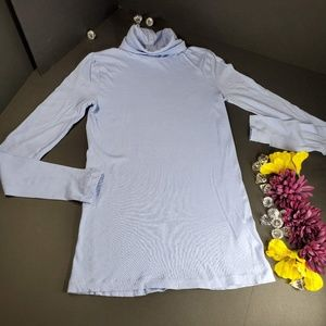 J. Crew Long Sleeved Turtle Neck Purple Blouse